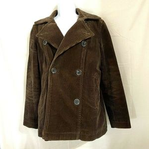 GAP Double Breasted Brown Corduroy Jacket Size M